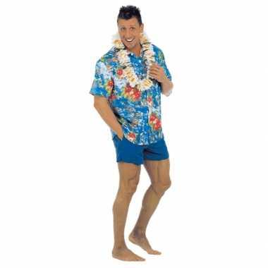 Blauwe hawaii kleding volwassenen