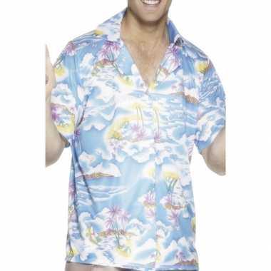 Hawaii kleding blauw