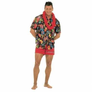 Zwarte hawaii kleding volwassenen